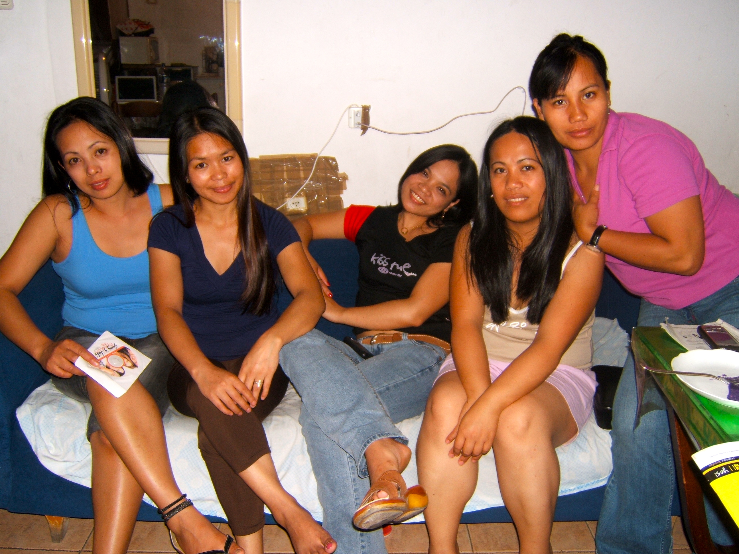 from left to right) Vangie, JI, Maricel, Daisybeth and Minnie, all ...