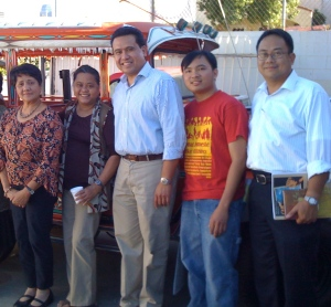 Bayanihan Foundation's Partners in CA (pictured from left to right): Myrla Baldonado, Lolita Andrada Lledo of Pilipino Workers Center, James Castillo of the Visayas Mindanao Resource Center and Vic Isidro of the UP XDS Alumni Association of the US. December 2010