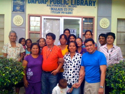 (standing far right) Myrla Baldonado with Alliance for Base Clean Up members of Saup in Clark, Pampanga