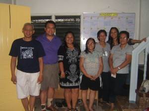 Volunteer members of the Visayas Disaster Response Network