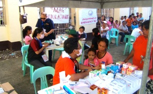 Volunteer doctors from Medical Action Group provided much needed medical care
