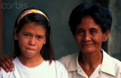 Amerasian Girl with Filipino Mother