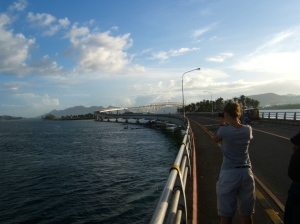 San Juanico Bridge connecting Samar and Leyte islands
