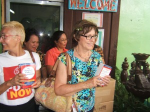 Rotarians from Rotary Club Chicago Far North donated dictionaries to Iligan Central Elementary School in 2012