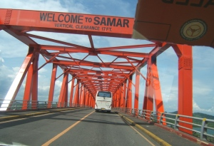 newly repainted San Juanico Bridge August 2014
