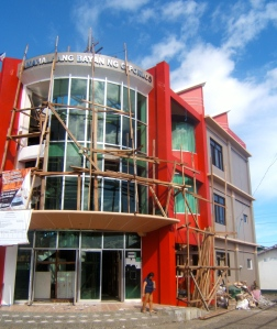 Muncipal Town Hall of Giporlos, Samar, Philippines being rebuilt and renovated after Typhoon Haiyan