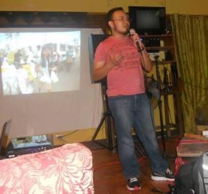 Bayanihan Foundation board member conducting permaculture workshop in Cebu, Philippines