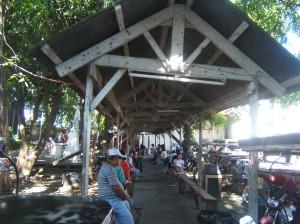 Makeshift hospital lobby of the Calamba Municipal Hospital