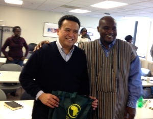 (left to right): Dale Asis and Alie Kabba of United African Organization (UAO)