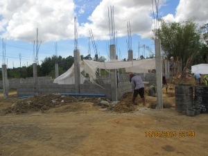 Housing construction starts in Dingle, Iloilo (April 2015)