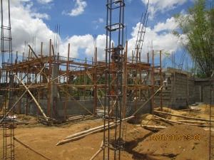 Construction of new homes in Dingle, Iloilo (April 2015)