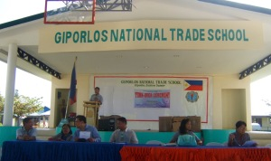 Giporlos National Trade School, local high school in Giporlos, Samar Philippines