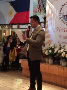 Marc Butiong, 2015 NEXTGEN Fellow played the host for the evening fundraiser May 31, 2015