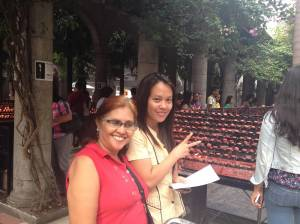 (left to right): Evelyn Castillo and Norms Alonso of the Visayas Mindanao Peoples' Resource Development Center (VMPRDC)