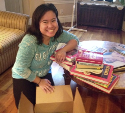 2015 NEXTGEN Fellow Jeselle Santiago collected used books for elementary school in Iligan (October 2015)