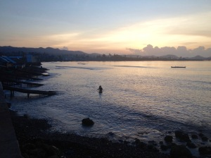 Sunrise at Giporlos Bay, Samar