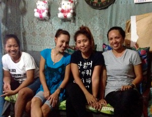 "Nieces of Evelyn Castillo ""The Angels"" (left to right): Diana Lo, Gretchen Lo, Nova Chua and Mayrose Caandoy"