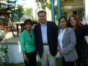(from left to right): Trudy Pinto, Dale Asis and Minerva Maggongoy attending diaspora giving seminar 2009 in Haifa Israel