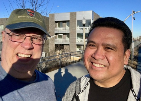 Will Dix and Dale Asis enjoying unseasonably warm weather during Chicago's winter season February 2017